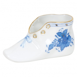 Herend Baby Shoe Blue
