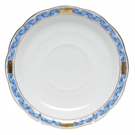 Herend Chinese Bouquet Garland Blue Saucer