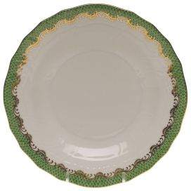 Herend Fish Scale Dark Green Dessert Plate