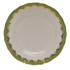 Herend Fish Scale Green Dessert Plate