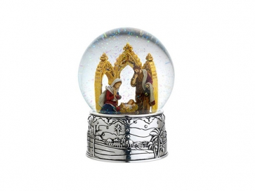 Reed & Barton Cathedral Nativity Snowglobe
