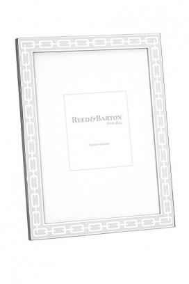 Reed & Barton Silver Link White Frame 5X7
