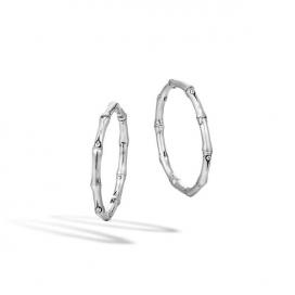 John Hardy Bamboo Silver Hoop Earrings