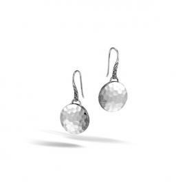 John Hardy Dot Round Hammered Drop Earrings