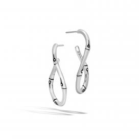 John Hardy Bamboo Twisted Hoop Earrings