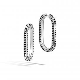 John Hardy Dot Silver Large LInk Earrings