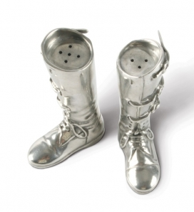 Vagabond House Pewter Riding Boots Salt & Pepper