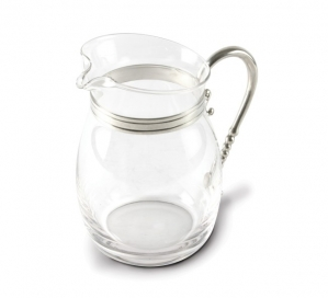 Vagabond House Classic Curved Glass Pitcher