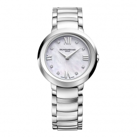 Baume & Mercier 30mm Stainless Steel MOP Dial
