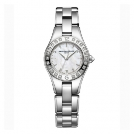 Baume & Mercier Linea 27mm Steel and Diamonds