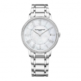 Baume & Mercier Classima 36mm Steel and Diamonds
