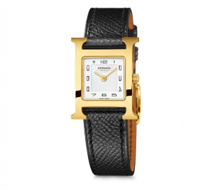 Hermes H-Our 21mm YG White Dial oon Strap