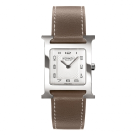 Hermes H-Our White Brown Strap