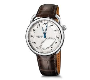 Hermes Arceau Temps Suspendumm Steel Silver