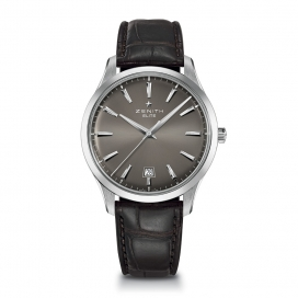 Zenith Elite Central Seconds Palladium Fume Dial