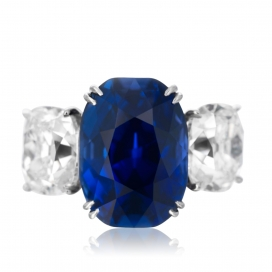 The Jewel of Kashmir an Important 10.88 ct. Kashmir Sapphire Ring