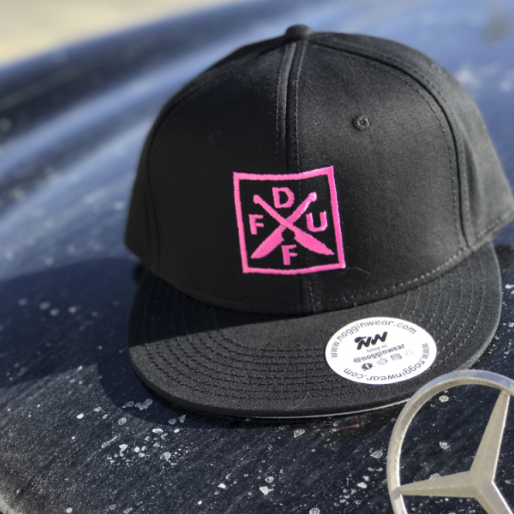 Chef Brian Duffy Pink Cross Knives Hat