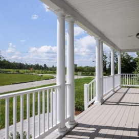 The Lancaster Single Family Home also features a Farmer's Porch.