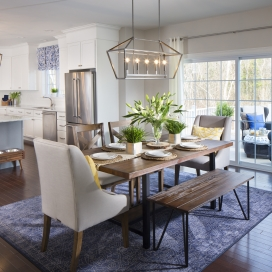 All of the Academy Hill homestyles feature an open-concept first floor layout with a Dining Area or Breakfast Nook adjacent to the Kitchen.