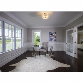 Crown Molding is featured in your Dining Room and Study, and custom moldings can be incorporated throughout your home.
