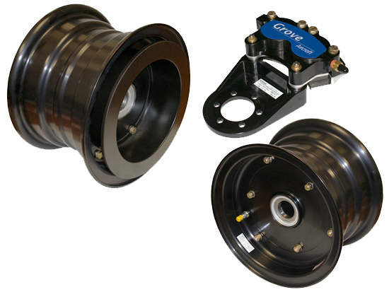 Piper PA18 Wheel & Brake Kit Cessna 180/185/206 w/1.5' axle