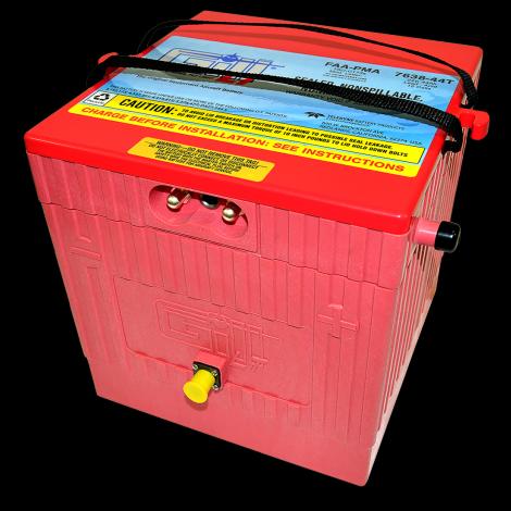 7638-44T LT Sealed Battery Citation -W/ Temp sensor