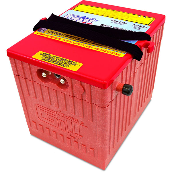 Gill 7639-25 LT Sealed Battery Helicopter Use