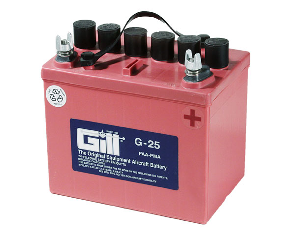 Gill G 25  12v  Battery - Includes Acid
