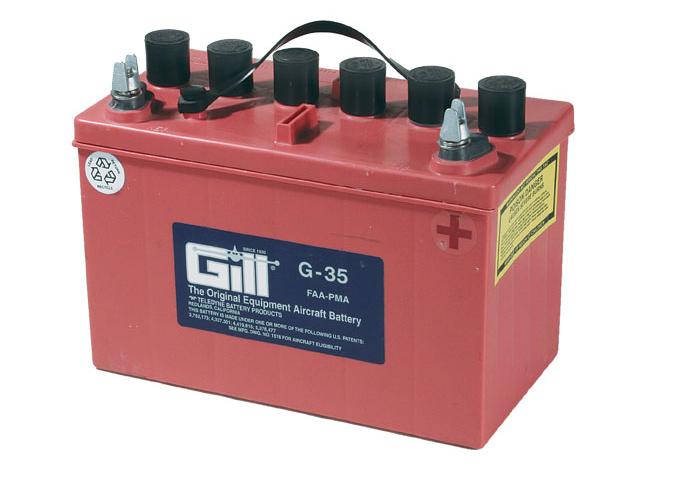 Gill G 35M- Manifold  12v  Battery - Includes Acid