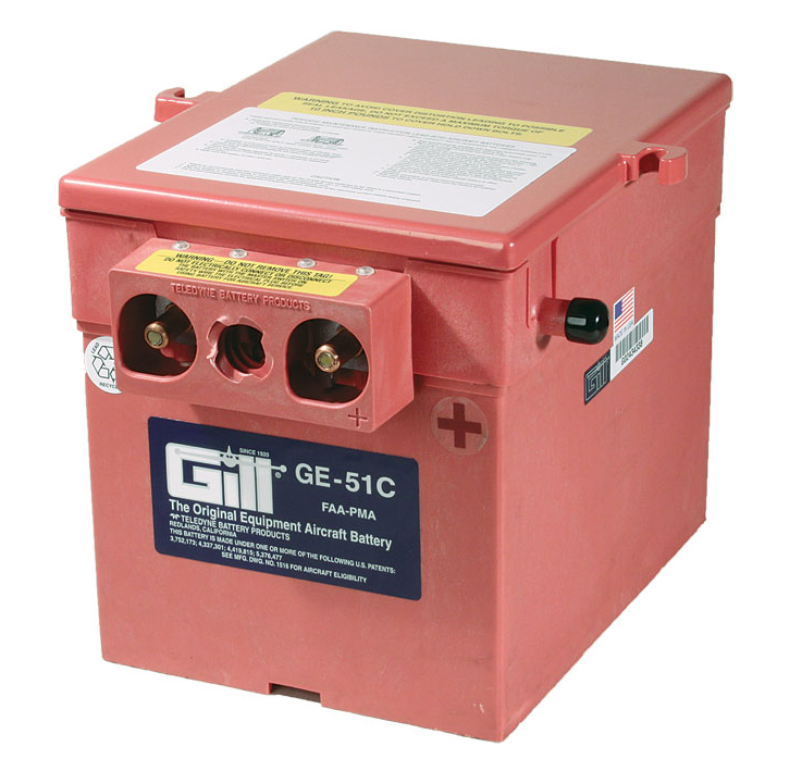 Gill GE 51C  Battery -Does Note Include Acid