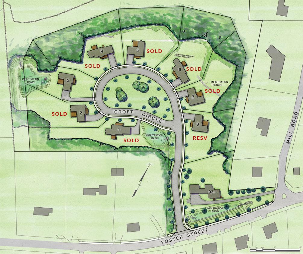 Croft Common Littleton Site Map April 2021