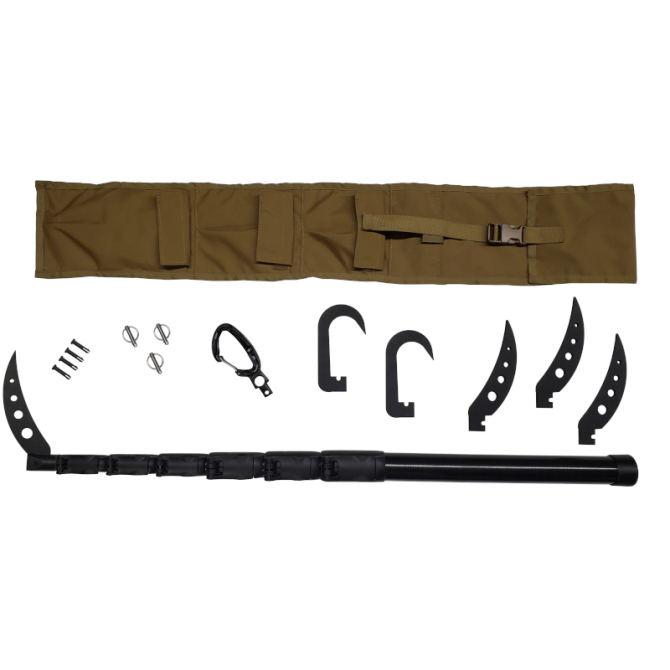 Mithix Pro - 14 FT, 7-SECTION HYBRID TELESCOPIC POLE KIT also known as the USMC Sickle Stick